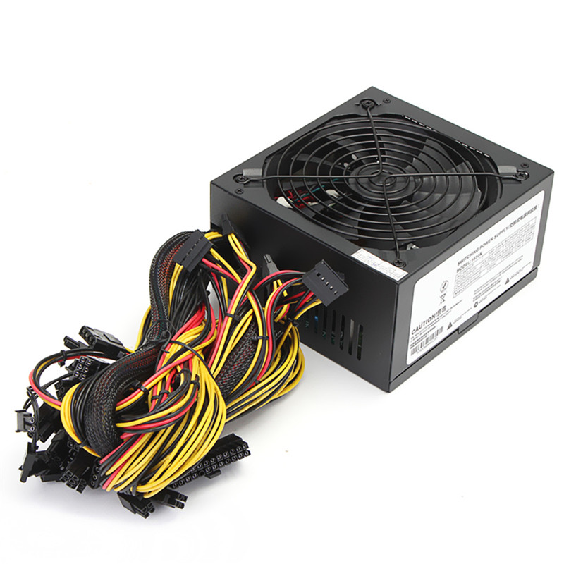 90 Efficiency MINER Gold POWER 1650W BTC Power Supply 6GPU Eth Rig Miner Power Supply 8 SATA 24PIN For Miner Mining atx 80plus efficiency 500w power gold power 12v sata port connectors 12cm fan high quality computer power supply for btc