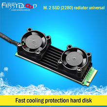 Cooler Heatsink Dissipation Aluminum NGFF fan Cooling Sink Heat Thermal grease Pads for M.2 SSD Hard disk aluminium Radiator цена и фото