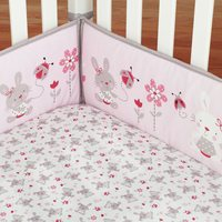 4Pcs/Set Baby Infant Cot Crib Bumper Cotton Soft Safety Protector Toddler Nursery Cushion Baby Protect Bedding Rabbit Pattern