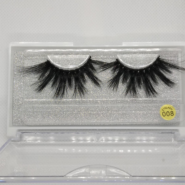 25mm Eyelashes Mink Eyelashes Criss-cross Strands Cruelty Free High Volume Mink Lashes Soft Dramatic Eye lashes 008 Makeup