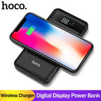 HOCO QI Wireless Charger Power Bank 10000mah  Dual USB with Digital Display External Battery Powerbank for iphone 8 X XS Max XR