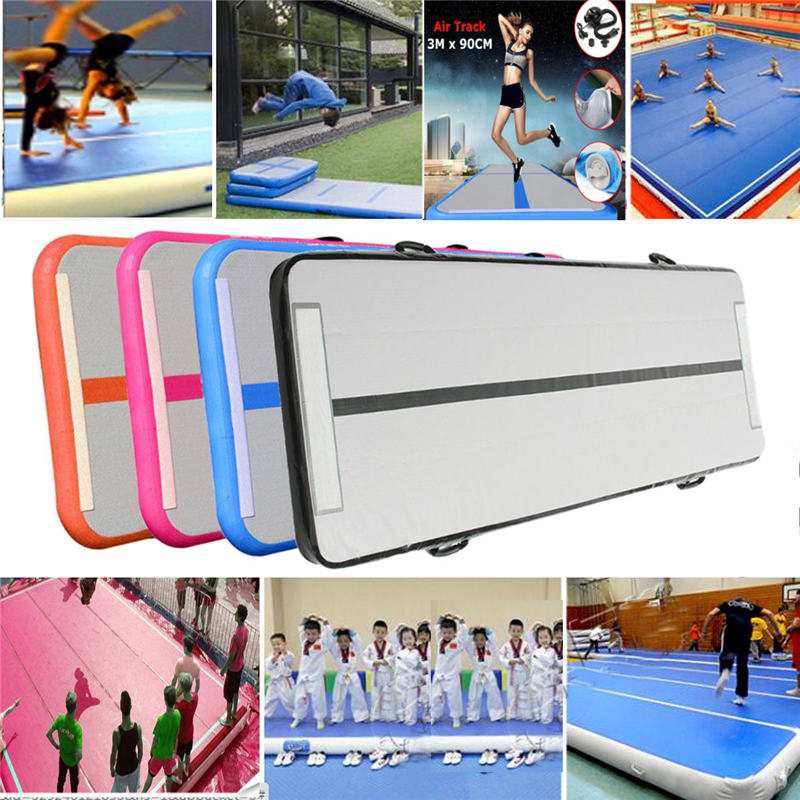 New Arrival 0.9*3m Inflatable Tumble Track Trampoline Air Track Floor Home GYM Gymnastics Inflatable Air Tumbling Mat free shipping 6 2m inflatable gym air track inflatable air track gymnastics