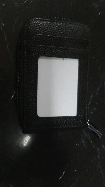 2019 nieuwe stijl mode heren portemonnee echt leer creditcardhouder RFID blokkeren rits dunne zak photo review