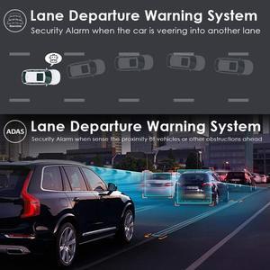 Image 4 - Azdome pg02 córrego media adas carro dvr 1080p visão noturna câmera gps lente dupla 1080p câmera retrovisor grande angular 24h modo de estacionamento