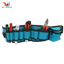 Men Canvas Toolkit Multifunctional Waist Bag Waterproof Electrical Repair Bag Carpenter Rig Hammer Tool Bag Woodworker Pockets(China)