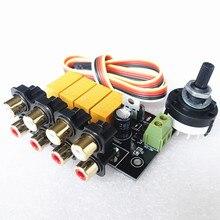 Brise Audio & Weiliang Audio 4 Sélectionnez 1 Entrée Audio Sélecteur de signal Relais Conseil pour amplificateur pré amp