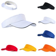 Empty Top Hat Solid Color Men And Women Sports Marathon Tennis Cap No Top Visor Tennis Beach Hat Outdoor Sports(China)