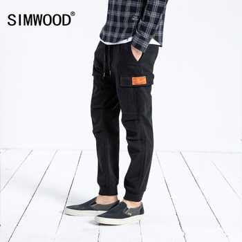 SIMWOOD New Arrive 2019 Casual Pants Men Fashion Ankle-Length Trousers Plus Size High Quality Cargo Hip Hop Streetwear 180525 - DISCOUNT ITEM  49% OFF All Category