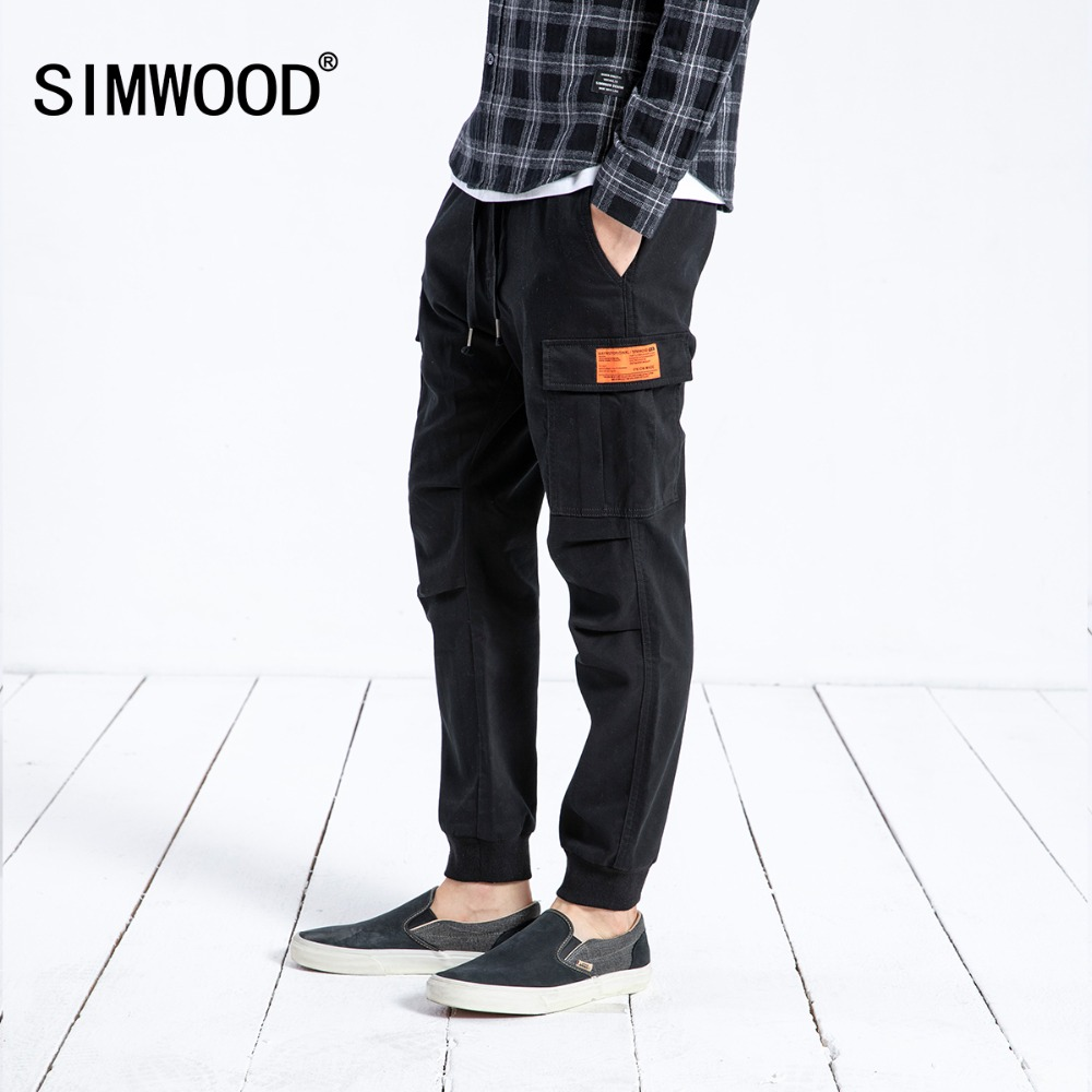 SIMWOOD New Arrive 2020 Casual Pants Men Fashion Ankle-Length Trousers Plus Size High Quality Cargo Hip Hop Streetwear 180525
