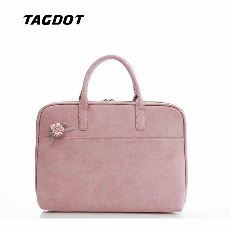 Fashion PU Leather Laptop bags for women 13 3 14 15 15 4 15 6 inch