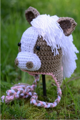 Preferred Newborn Horse Hats girls Animal Hat ,Crochet Horse Hats with Ear  RP43