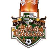 custom Copper medals cheap Plating antique brass Zinc Alloy Glitter Sports Medal