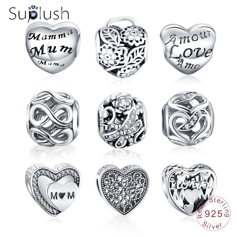 Humor Spinner Hollow Heart Charms Beads Fit Pandora Charm Bracelet For Women Diy Original Silver Jewelry Beads & Jewelry Making