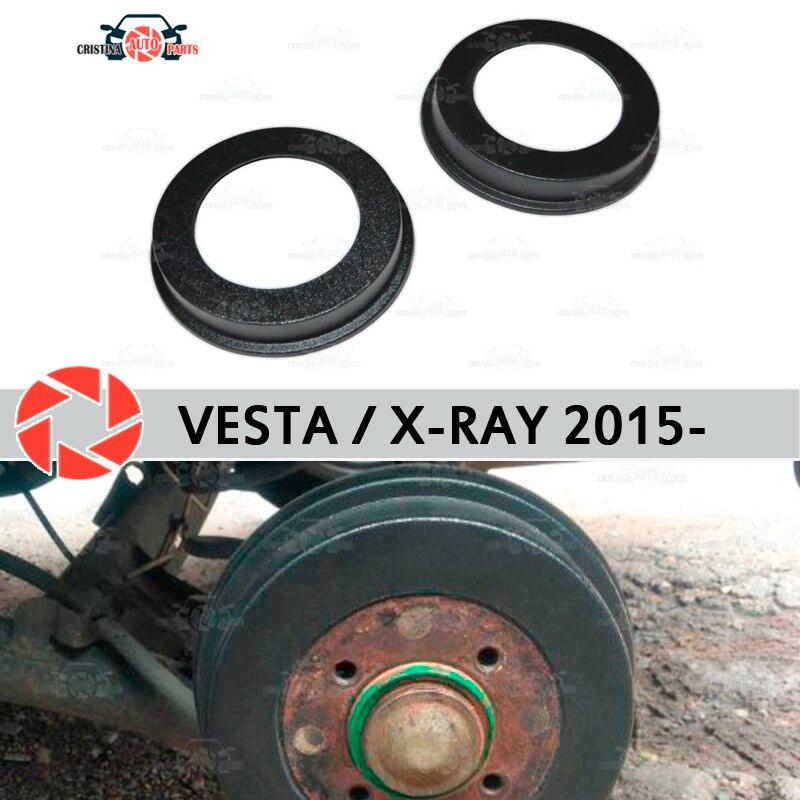 Garnitures de tambour de frein pour Lada Vesta 2015-décoration de voiture protection panneau de seuil accessoires couvercle tambours de frein arrière
