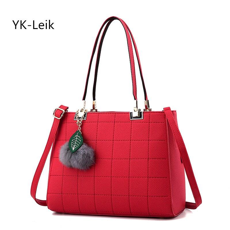 YK Wehbe-leik 2017 Coreano de gama Alta de lujo bolso de la Tela Escocesa de La