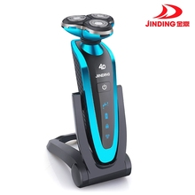 Jinding Triple blade Shaver Rechargeable Electric Shaver waterproof 4D shaving machine beard Electric Razor For Men wireless use jinding electric shavers gold shaver for men 3d spiral shaving machine rechargeable wash the shaver electric shaver washable