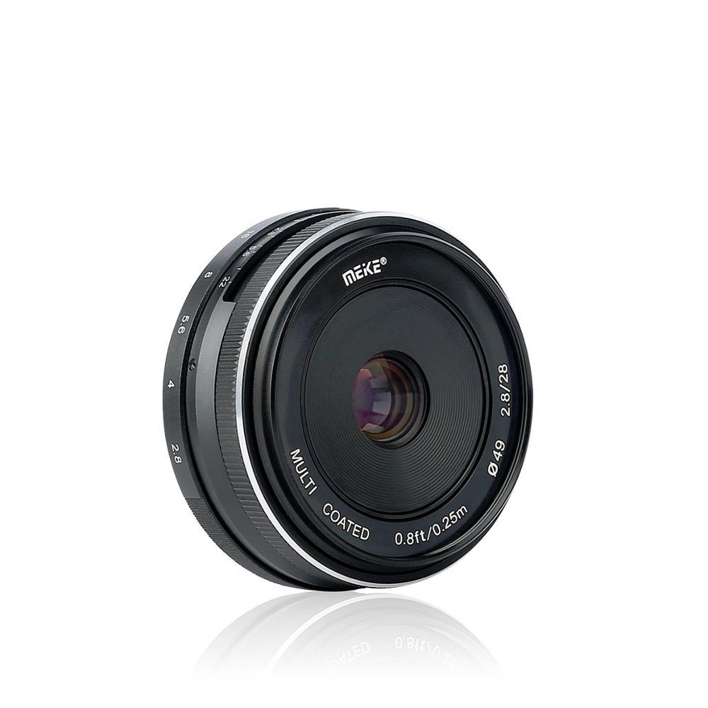 Meike MK-FX-28mm-f/2.8 fixe lentille de mise au point manuelle pour Fujifilm Fuji X X-E3 X-T3 X-T2 X-T2 X-T20 X-T100 X-PRO2 X-PRO1