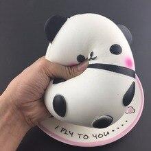 2018 Baru Jumbo Empuk Kawaii Panda Beruang Telur Permen Lembut Lambat Meningkat Peregangan Squeeze Kid Mainan Menghilangkan Stres Bauble Anak Hadiah