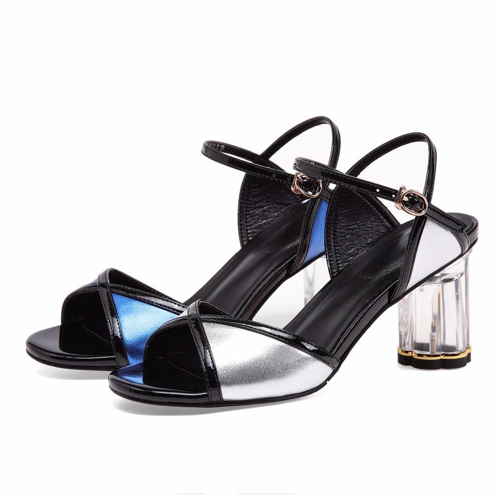 Tacchi silver Peep Cristallo Blu 33 Dimensione Scarpe Da Toe Furtado Blue Leather Fashion Summer Arden Nuovo 2018 Genuine Ballo 7 Di Rotonda Cm Piccola Sandali SfPqzwaYx1