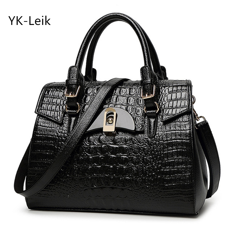 2017 Limited New Alligator Elegant Women's Handbag Leisure And Large Capacity Bolsa Feminina Wild Pattern Lock Shoulder Bags
