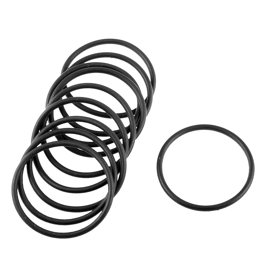Uxcell Rubber O Shaped Rings Oil Seal Gasket Washer Black 15mm x 9mm x 3mm 10 Piece
