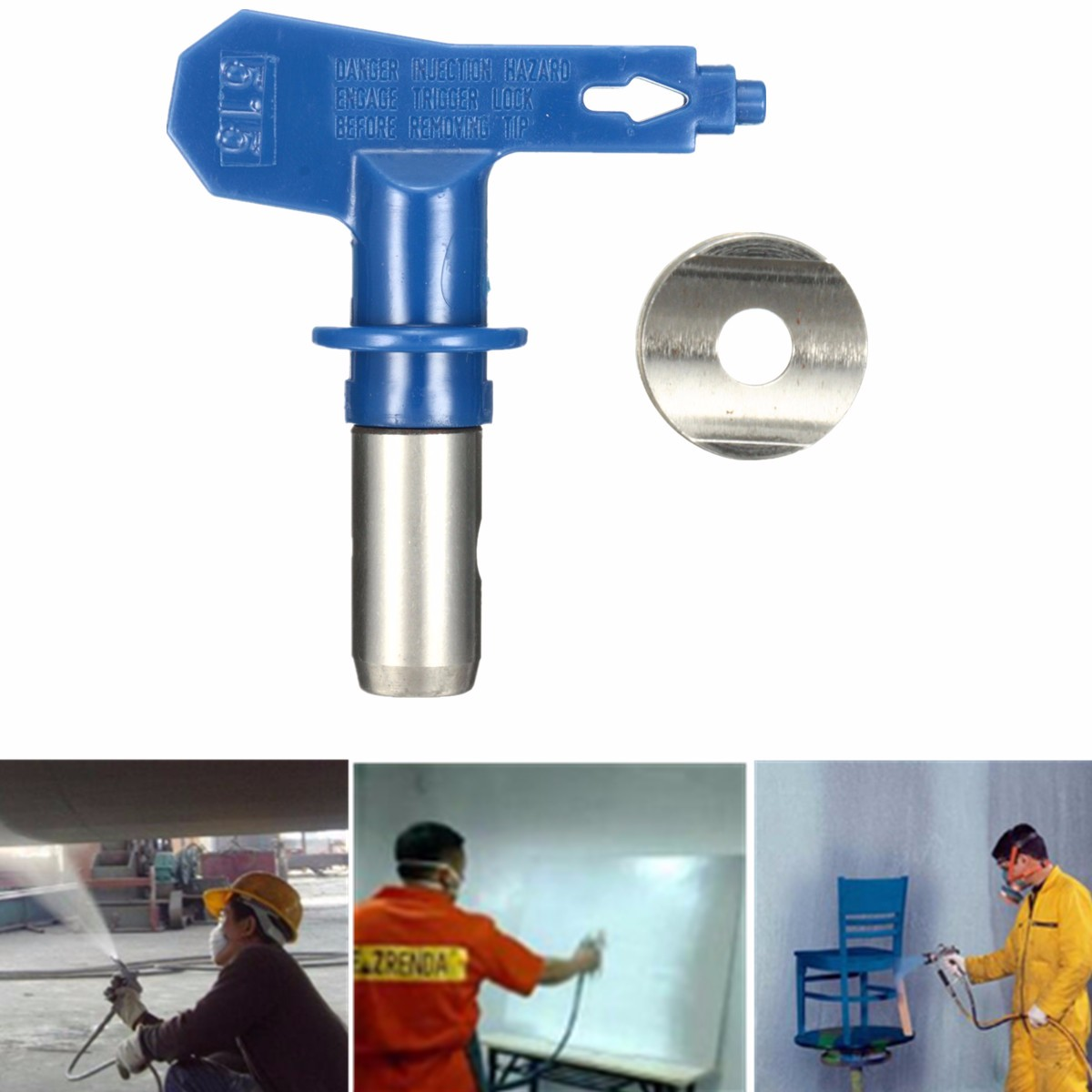 Blue 5 Series Airless Spray Tips Spray Nozzle Spraying Machine Accessories  For Airless Spray Gun And Paint Sprayer