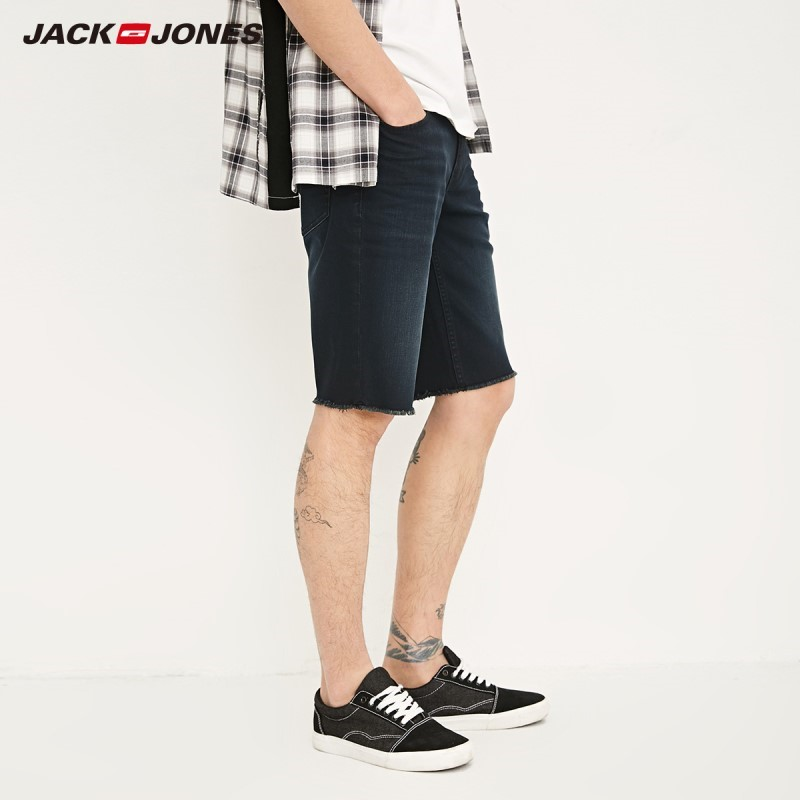 JackJones Men's Slim Fit Whiskering Denim Shorts J|218243523