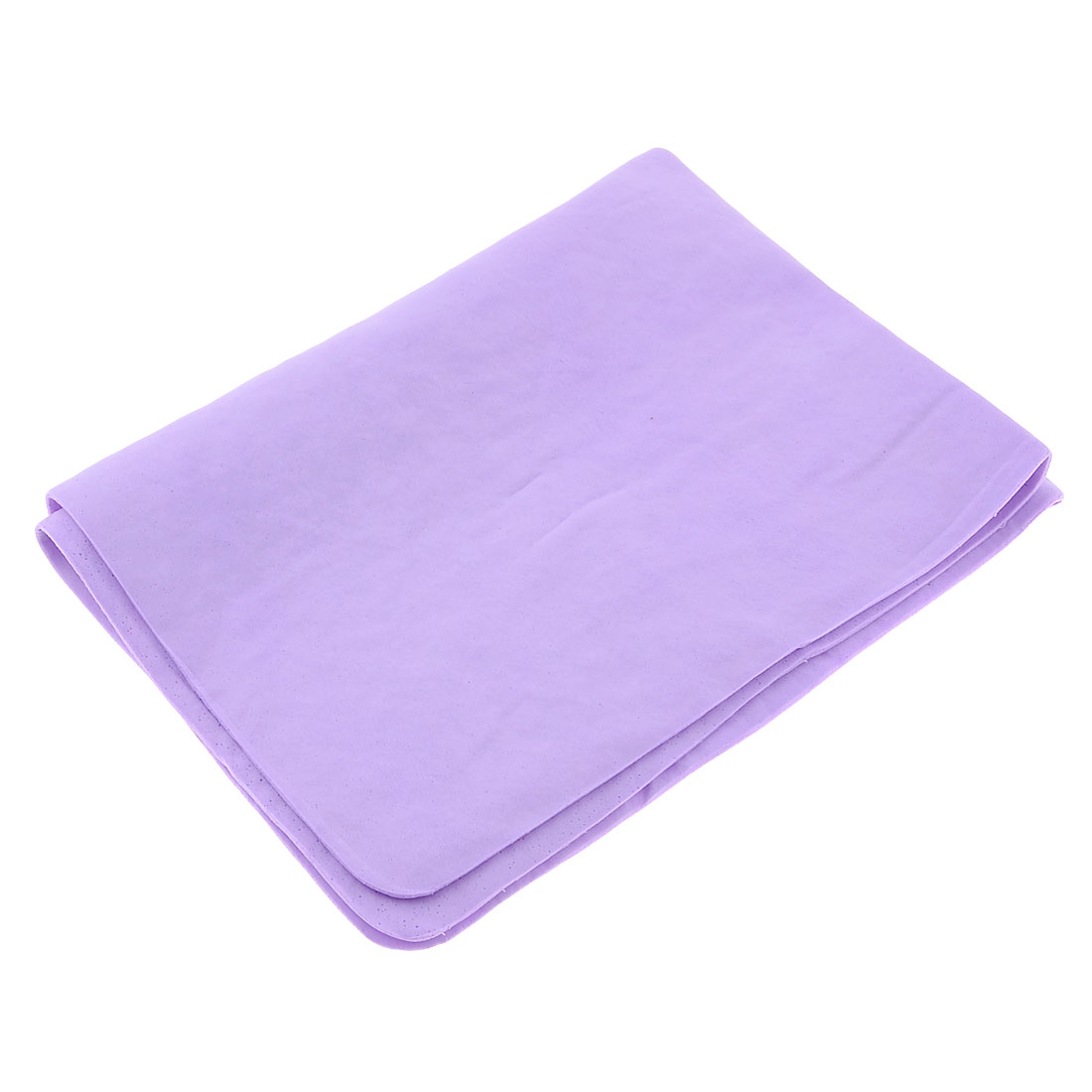 UXCELL Vehicles Car Light Purple Synthetic Chamois Cleaning Cham Towel 43Cm X 32Cm