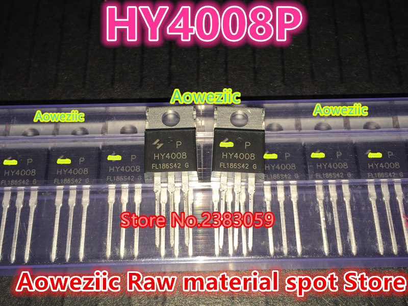 все цены на Aoweziic 100% new imported original HY4008P  HY4008  TO-220 FET 80V200A онлайн