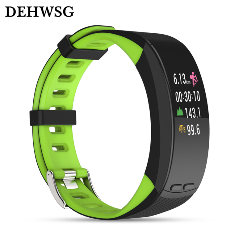 GPS Sport Bracelet H5 Plus Smart Band Color Display Heart Rate Monitor Wristband Barometer Activity Fitness Tracker For fit bits ...