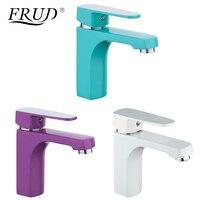 FURD инновационные 1 компл.. Домашние многоцветные смесители для раковины холодной и горячей воды краны зеленый белый фиолетовый Ванная раковина кран R10301