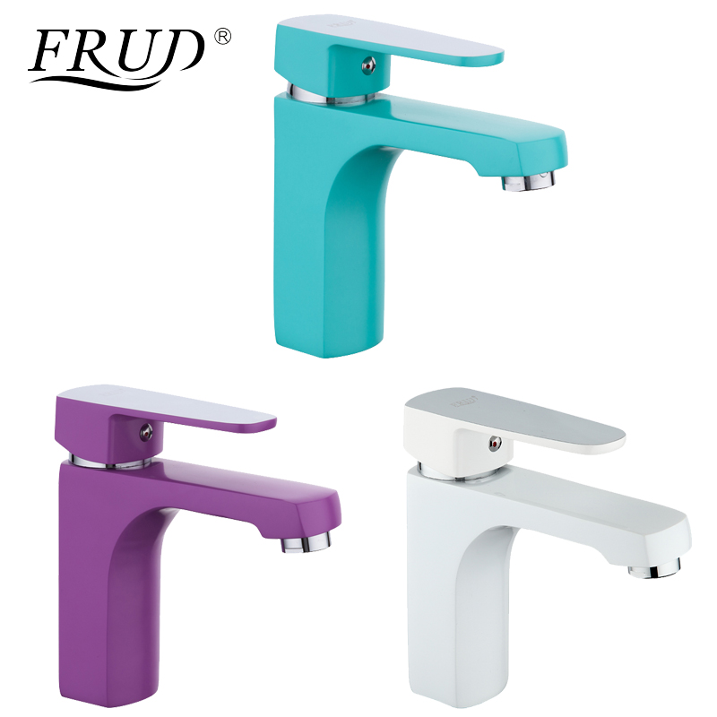 FURD Innovative 1 Set Home Multi-color Basin Faucets Cold and Hot Water Taps Green White Purple Bathroom Sink Faucet R10301