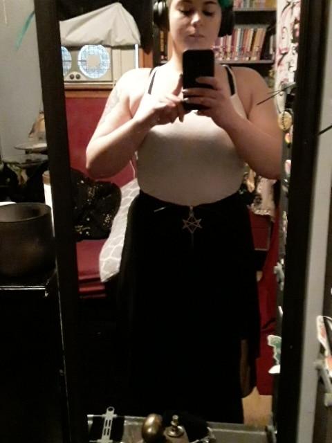 Summer Mesh Irregular Women Skirts Pentagram Zipper Black Punk Skirts Gothic Darkness Lady Skirt Casual Loose Streetwear Skirts photo review