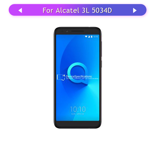 1PC Screen For Alcatel 3L 5034D 5034 LCD Display Touch Screen Assembly Glass Panel Digitizer Touch Sensor digitizer,glass