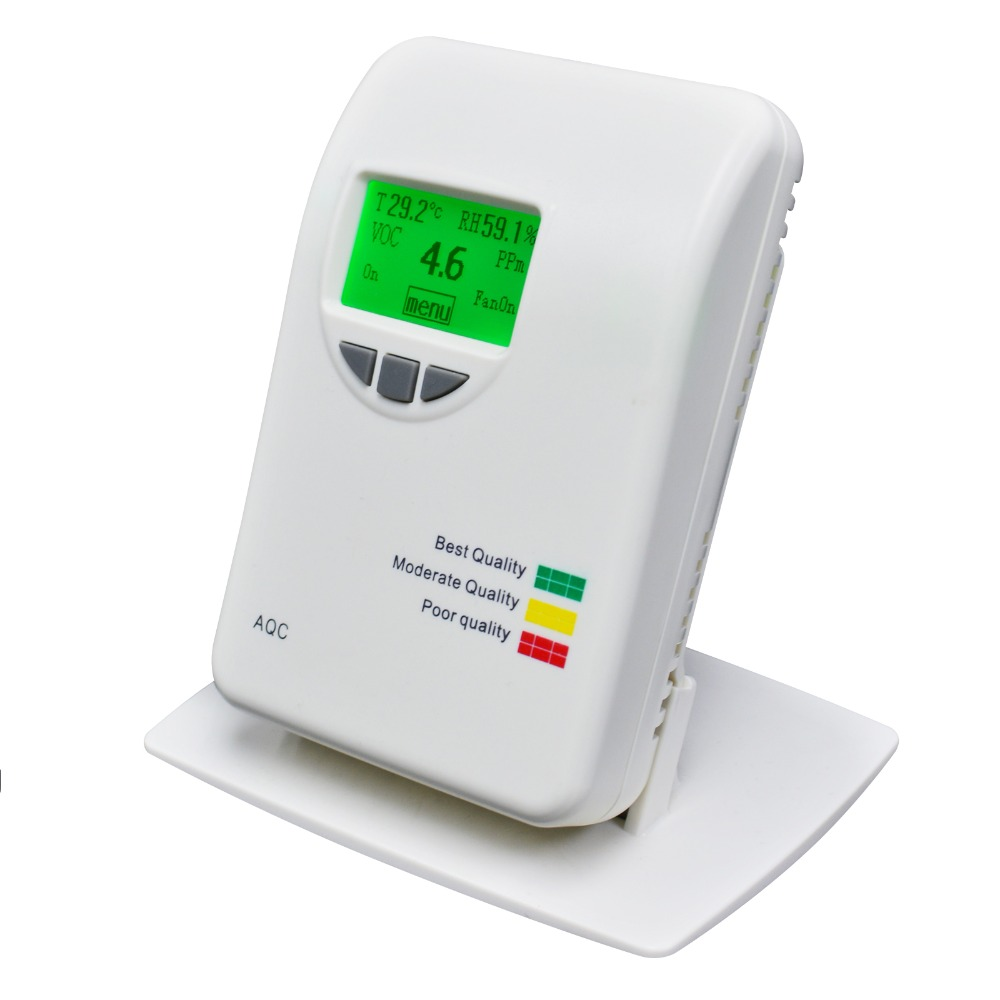 0 50ppm VOC Air Quality Meter IAQ Detector Temperature Humidity Air Contaminants Measure Tester for Home