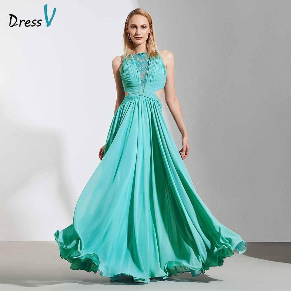 Dressv elegant scoop neck lace beading   evening     dress   chiffon floor length wedding party formal gown   dress     evening     dresses