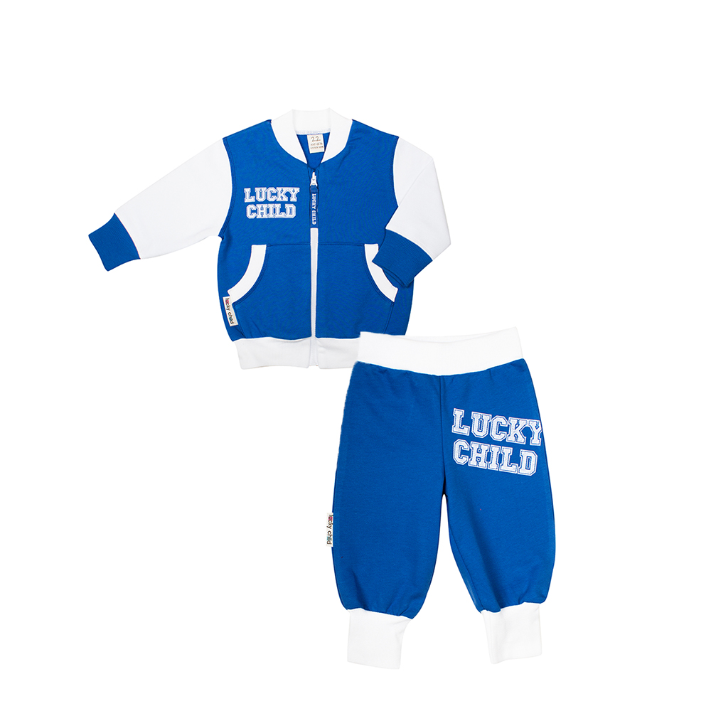 Children's Sets Lucky Child for boys and girls 8-2 Kids clothes Sports suit Children clothing Costumes Baby spring clothes new pattern girl korean trend fashion leisure time letter girl child cowboy 2 pieces kids clothing suits sets