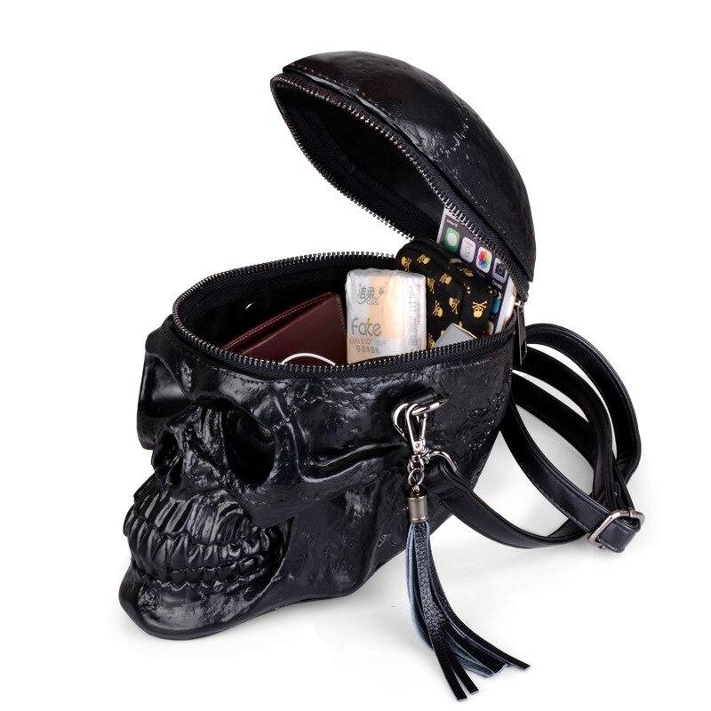 Arsmundi оригинальность сумка женская смешная Скелетная головка черная рюкзак Мужской одиночный пакет мода дизайнер ранец пакет Сумки для черепа сумка женская натуральная кожа - 4