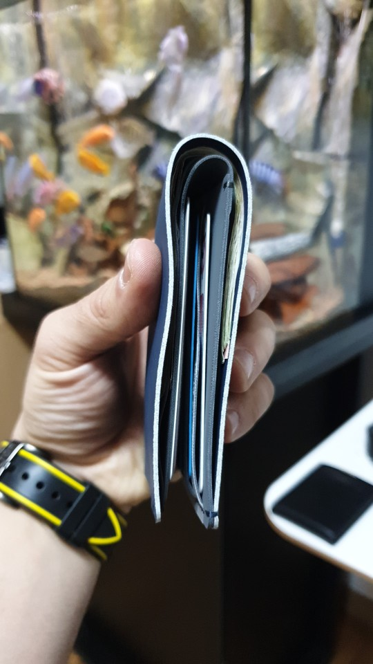 Xiaomi 90FUN Anti Theft Wallet RFID Blocking Signal Safe Billfold Wallet Card Coin Holder Men Women Protect Credit Card photo review