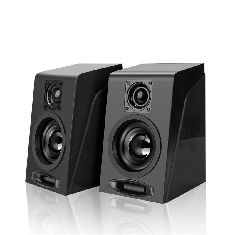 For Computer High Quality Mini Speaker Design Portable Speaker Bass Stress Close Listening Active USB Powered Stereo Subwoofer