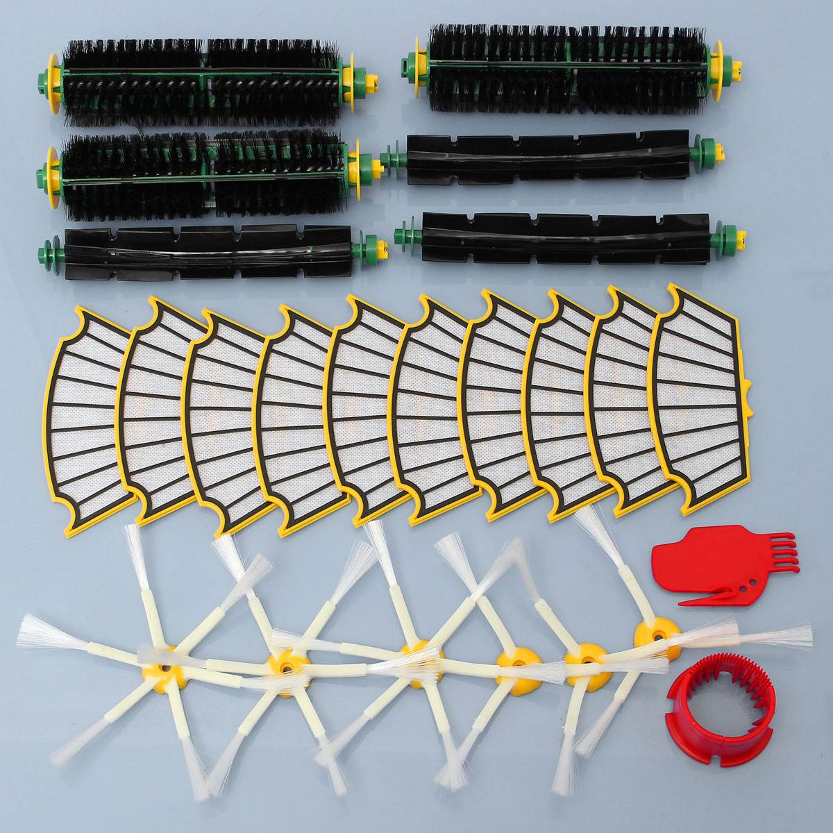24Pcs Replacement Filter Bristle/Beater Brush Round Cleaning Tool Vacuum Cleaner Accessories Kit For i Robot R oomb 500 Series 14pcs free post new side brush filter 3 armed kit for irobot roomba vacuum 500 series clean tool flexible bristle beater brush