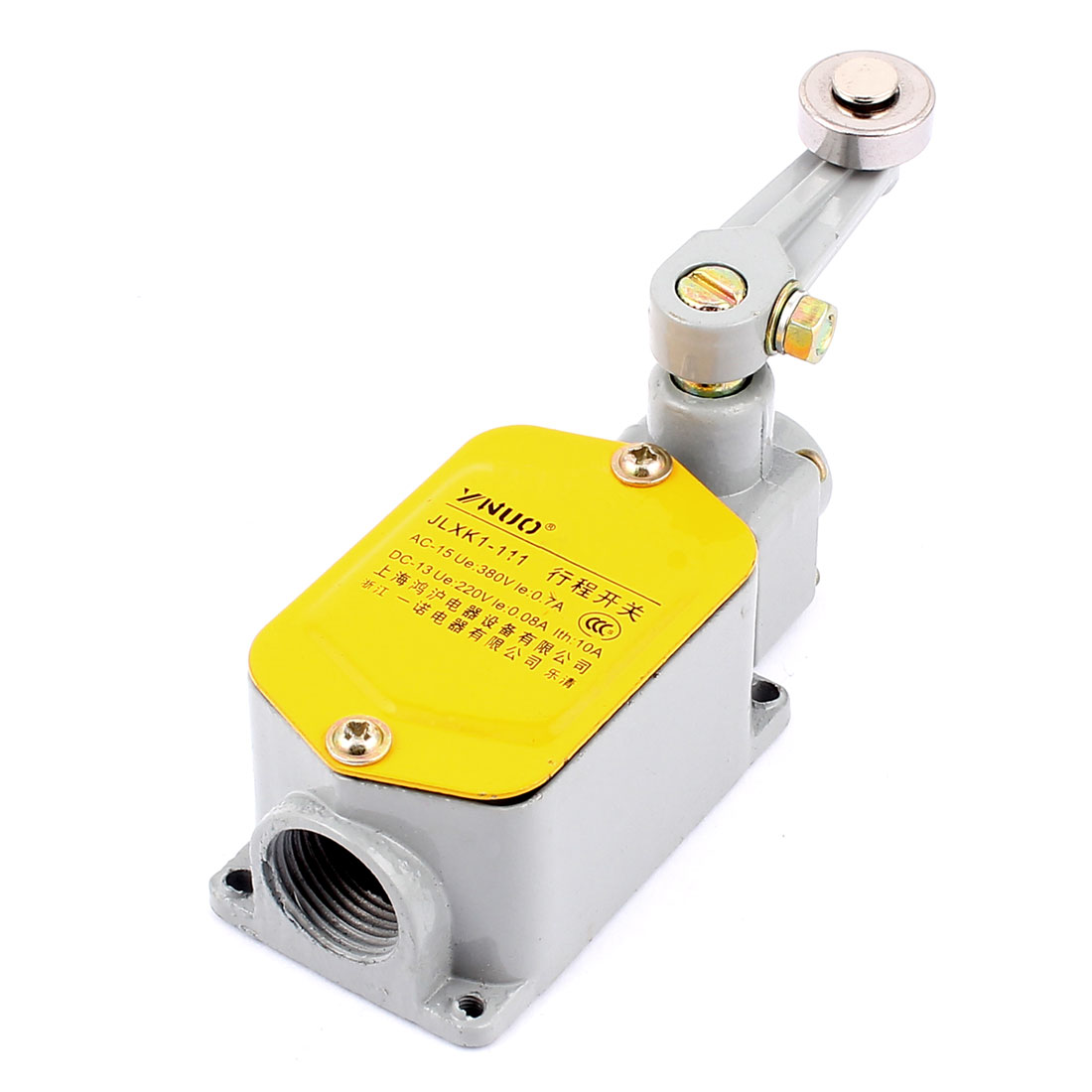 UXCELL Roller Lever Enclosed Momentary Rotary Actuator Limit Switch Jlxk1-111 10pcs long straight hinge lever spdt micro limit switch v 153 1c25