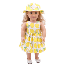 Fit 18 inch 43cm Born New Baby Clothes For Doll Flower Cloth clothes + hat suits accessories Gift