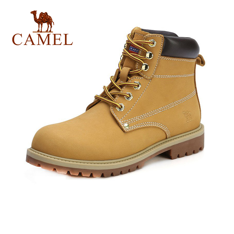 CAMEL Work Short Boots For Women 2018 Winter Fashion Martin Boots Shoes Women British Style Non-slip Flat Heel Casual Shoes casual metal and flat heel design short boots for women
