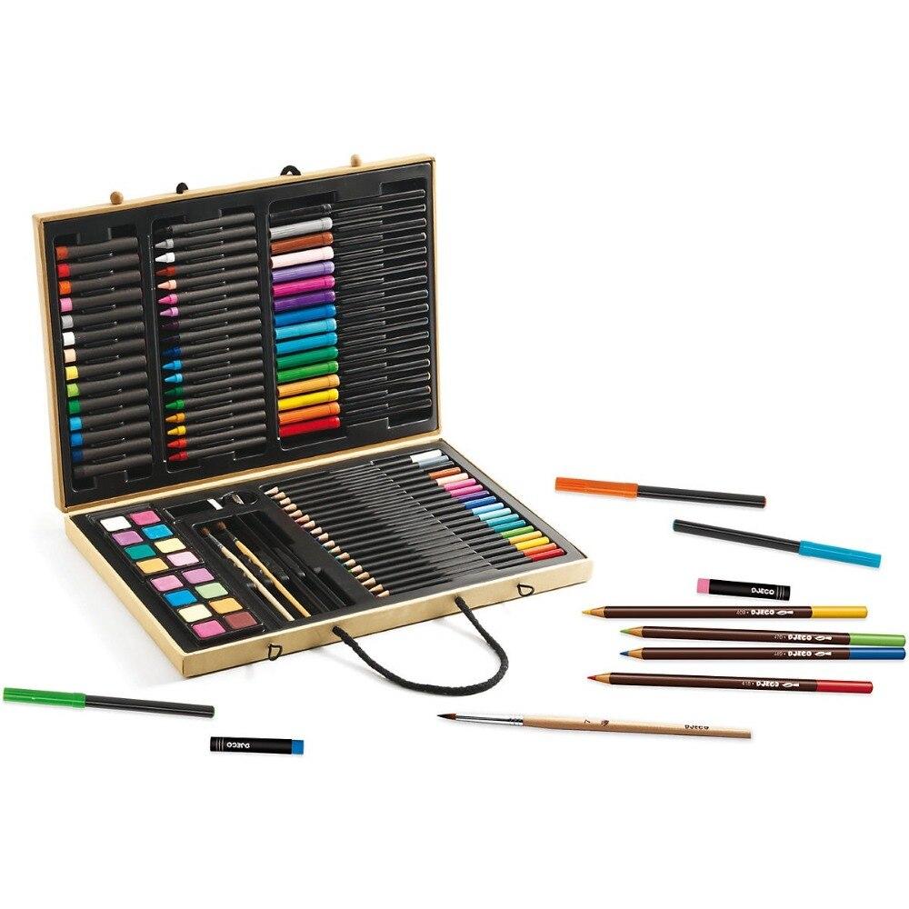 Desenho Brinquedos DJECO 4783888 Conjuntos de Placa de Cavalete caneta Criatividade 3D Crianças Colorir Páginas MTpromo