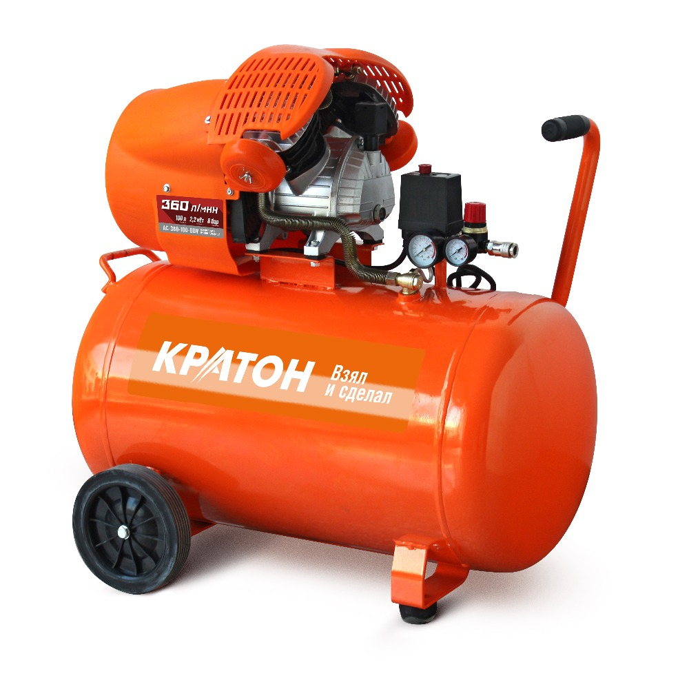 Compressor KRATON with direct transmission AC-360-100-DDV compressor kraton with direct transmission ac 180 24 dd