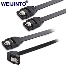 2pcs HDD SSD SATA 3 0 III 6Gb s Straight Cables Right Angle Hard Disk Drive