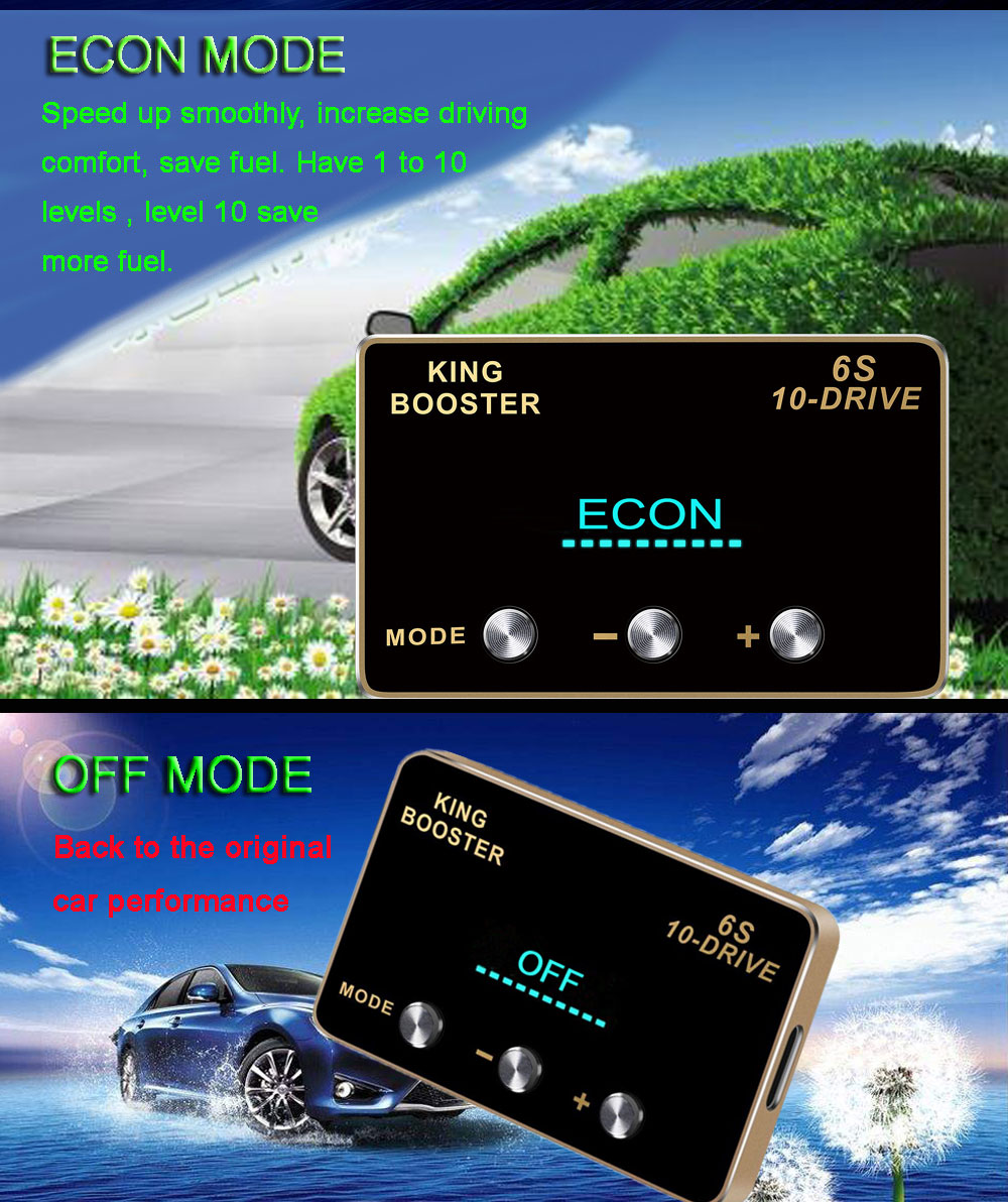 7 car DIY accessories smart pedal commander tuning box electronic throttle controller accelerator speed control module