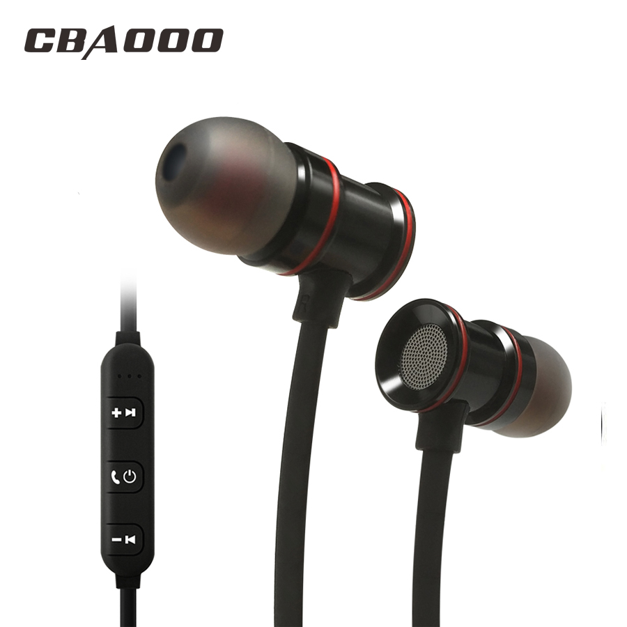 Bluetooth Earphones Running Sport with Mic Wireless Earphones Bass Bluetooth Headsets In Ear For iPhone Xiaomi merrisport wireless bluetooth foldable over ear headphones headsets with mic for for cellphones ipad iphone laptop rose gold