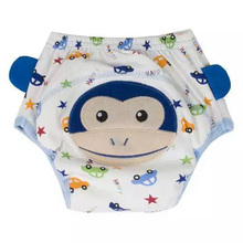 Baby 4 Layers Baby Training Pants Washable Reusable Cartoon Animals Baby Infants Underwear for 0 to 36 Months